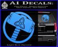 Greek God Hammer Thor Decal Sticker Light Blue Vinyl 120x97