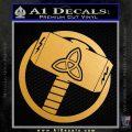 Greek God Hammer Thor Decal Sticker Metallic Gold Vinyl 120x120