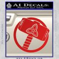 Greek God Hammer Thor Decal Sticker Red Vinyl 120x120