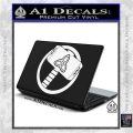 Greek God Hammer Thor Decal Sticker White Vinyl Laptop 120x120
