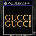 Gucci Decal Sticker 2pk Metallic Gold Vinyl 120x120