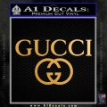 Gucci Logo Decal Sticker D3 Metallic Gold Vinyl 120x120