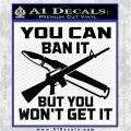 Gun Ban Decal Sticker SQ Black Logo Emblem 120x120