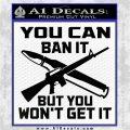 Gun Ban Decal Sticker SQ Black Logo Emblem 120x120