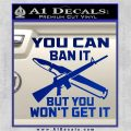 Gun Ban Decal Sticker SQ Blue Vinyl 120x120