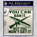 Gun Ban Decal Sticker SQ Dark Green Vinyl 120x120