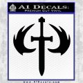 HALO 2 Sword Emblem Decal Sticker Black Logo Emblem 120x120