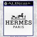 Hermes Logo Decal Sticker Black Logo Emblem 120x120