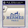 Hermes Logo Decal Sticker Blue Vinyl 120x120