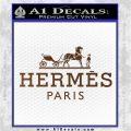 Hermes Logo Decal Sticker Brown Vinyl 120x120