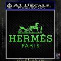 Hermes Logo Decal Sticker Lime Green Vinyl 120x120