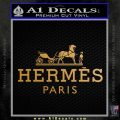 Hermes Logo Decal Sticker Metallic Gold Vinyl 120x120