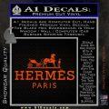 Hermes Logo Decal Sticker Orange Vinyl Emblem 120x120