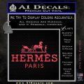 Hermes Logo Decal Sticker Pink Vinyl Emblem 120x120