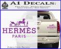 Hermes Logo Decal Sticker Purple Vinyl 120x97