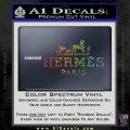 Hermes Logo Decal Sticker Sparkle Glitter Vinyl 120x120