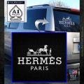 Hermes Logo Decal Sticker White Emblem 120x120