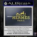 Hermes Logo Decal Sticker Yelllow Vinyl 120x120
