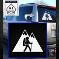 Hiking Mountain Vinyl Decal Sticker White Emblem 120x120