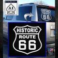 Historic Route 66 Highway Vinyl Decal Sticker White Emblem 120x120