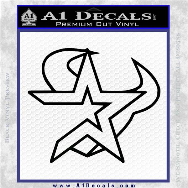 Houston Astros Texans Decal Sticker Mashup 187 A1 Decals