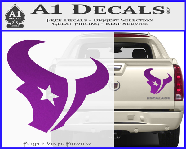 Attractive Houston Texans Decal Sticker Logo » A1 Decals MB38