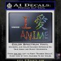 I Love Anime Vinyl Decal Sticker Sparkle Glitter Vinyl 120x120