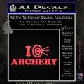 I Love Archery Decal Sticker Target Pink Vinyl Emblem 120x120