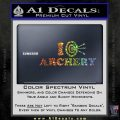 I Love Archery Decal Sticker Target Sparkle Glitter Vinyl 120x120