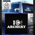I Love Archery Decal Sticker Target White Emblem 120x120