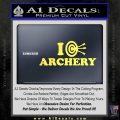 I Love Archery Decal Sticker Target Yelllow Vinyl 120x120