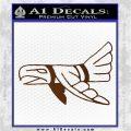 Indian Bird Vinyl Decal Sticker Brown Vinyl 120x120