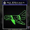 Indian Bird Vinyl Decal Sticker Lime Green Vinyl 120x120