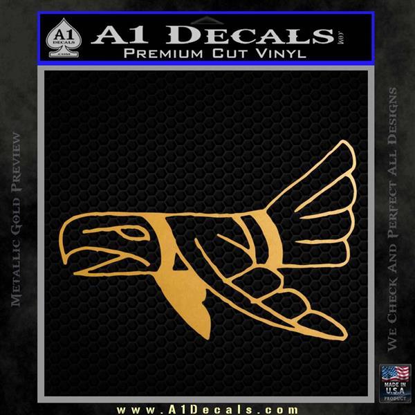 Indian Bird Vinyl Decal Sticker Metallic Gold Vinyl Vinyl