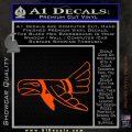 Indian Bird Vinyl Decal Sticker Orange Vinyl Emblem 120x120