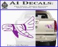 Indian Bird Vinyl Decal Sticker Purple Vinyl 120x97