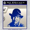 Indiana Jones Profile Decal Sticker Blue Vinyl 120x120