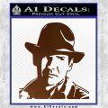 Indiana Jones Profile Decal Sticker Brown Vinyl 120x120