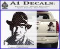 Indiana Jones Profile Decal Sticker Carbon Fiber Black 120x97