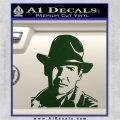 Indiana Jones Profile Decal Sticker Dark Green Vinyl 120x120