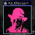 Indiana Jones Profile Decal Sticker Hot Pink Vinyl 120x120