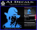 Indiana Jones Profile Decal Sticker Light Blue Vinyl 120x97
