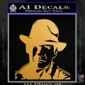Indiana Jones Profile Decal Sticker Metallic Gold Vinyl 120x120