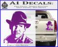 Indiana Jones Profile Decal Sticker Purple Vinyl 120x97