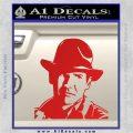 Indiana Jones Profile Decal Sticker Red Vinyl 120x120