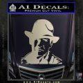 Indiana Jones Profile Decal Sticker Silver Vinyl 120x120