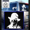 Indiana Jones Profile Decal Sticker White Emblem 120x120