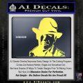 Indiana Jones Profile Decal Sticker Yelllow Vinyl 120x120