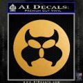 Inspector Gadget MAD Decal Sticker CR Metallic Gold Vinyl 120x120