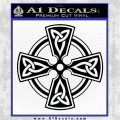 Irish Celtic Cross D7 Decal Sticker Black Logo Emblem 120x120